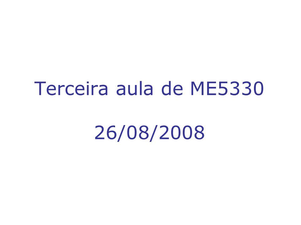 Terceira aula de ME5330 26/08/2008