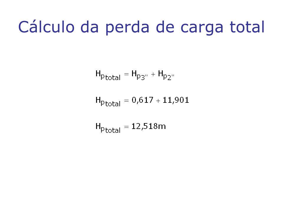 Cálculo da perda de carga total