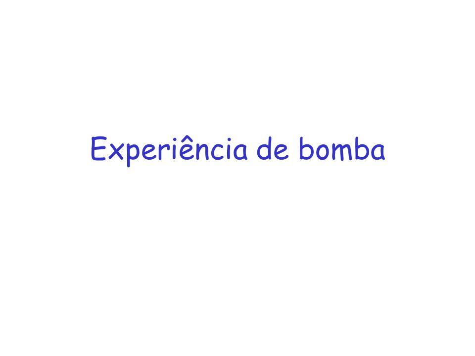 Experiência de bomba