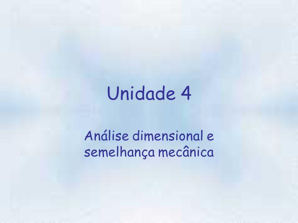 Unidade 4 Análise dimensional e semelhança mecânica