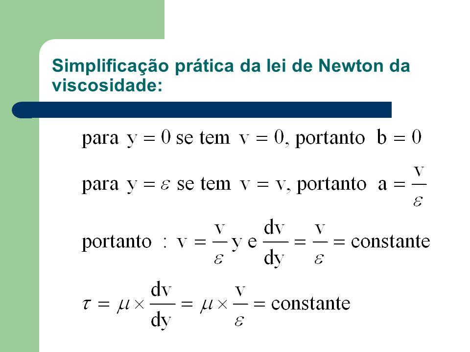 Simplificação prática da lei de Newton da viscosidade: