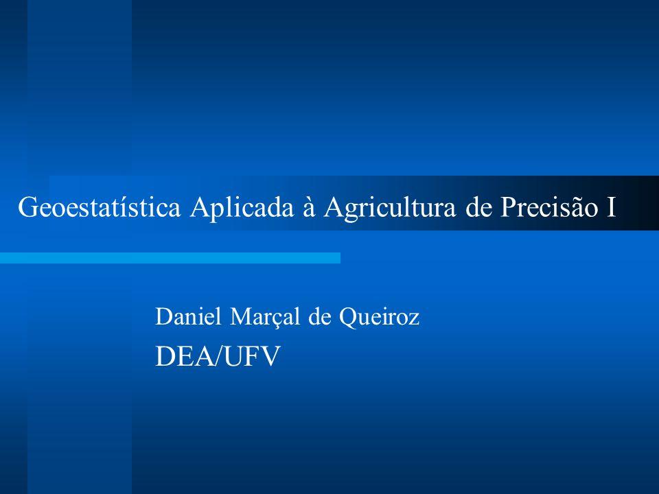 Geoestatística Aplicada à Agricultura de Precisão I Daniel Marçal de Queiroz DEA/UFV