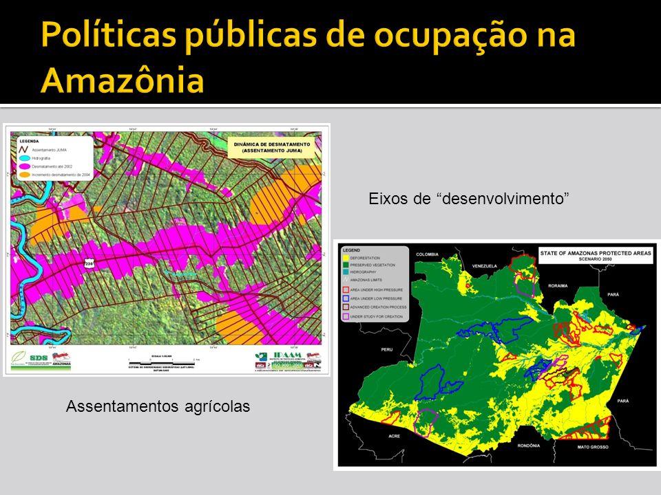 Assentamentos agrícolas Eixos de desenvolvimento