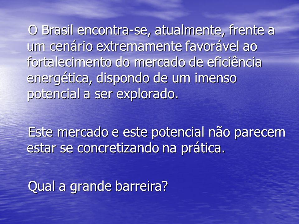 O Brasil encontra-se, atualmente, frente a um cenário extremamente favorável ao fortalecimento do mercado de eficiência energética, dispondo de um ime