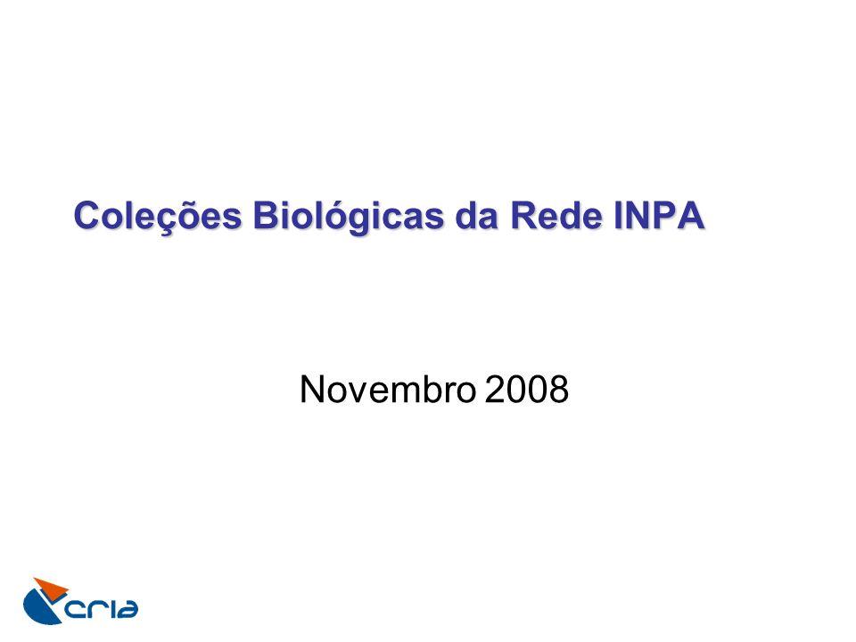 Coleções Biológicas da Rede INPA Novembro 2008