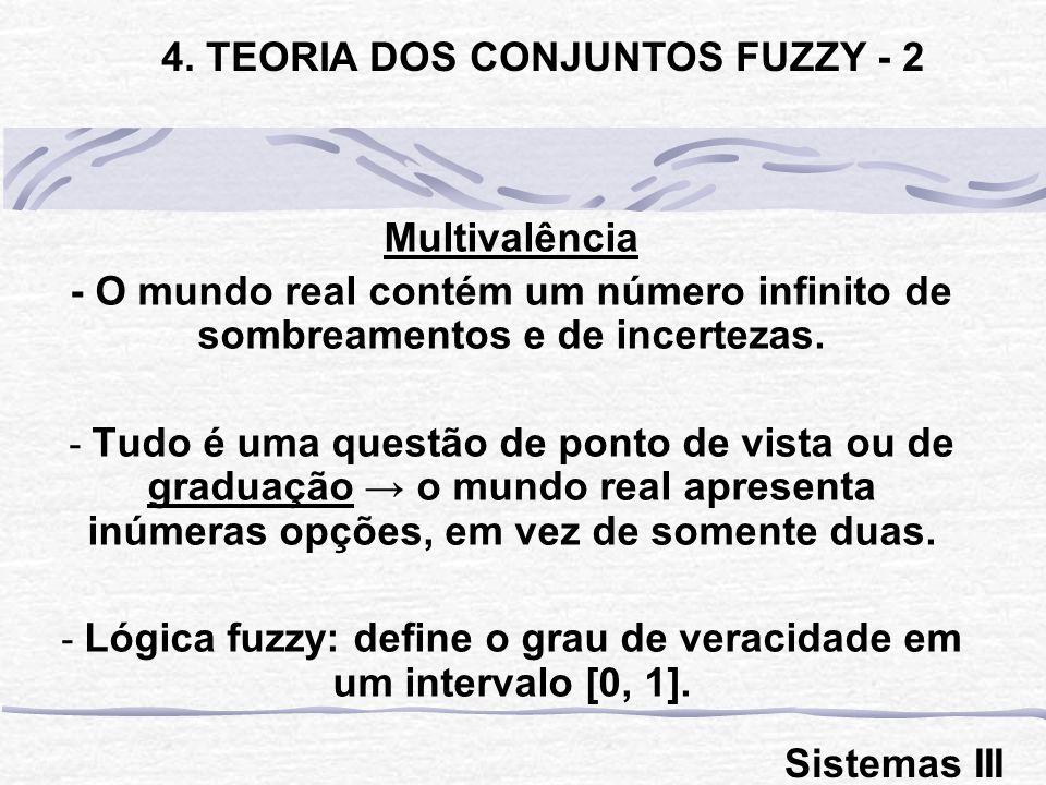 Multivalência - O mundo real contém um número infinito de sombreamentos e de incertezas.