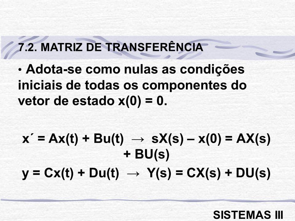 Adota-se como nulas as condições iniciais de todas os componentes do vetor de estado x(0) = 0.