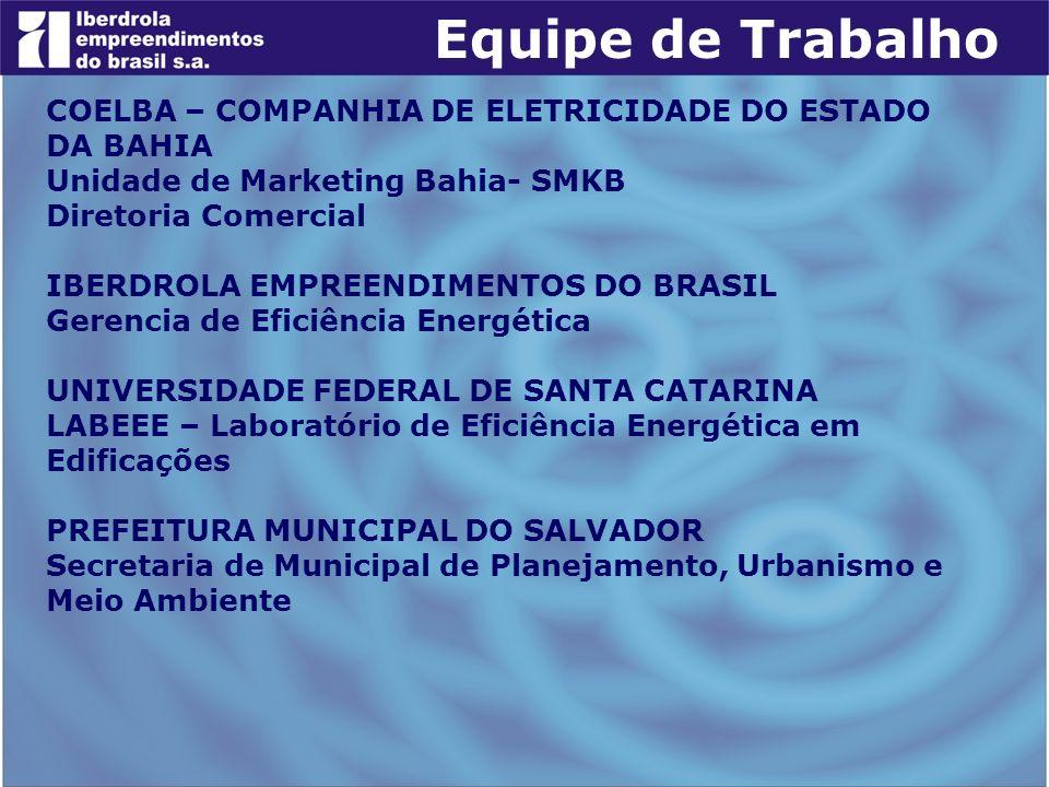 COELBA – COMPANHIA DE ELETRICIDADE DO ESTADO DA BAHIA Unidade de Marketing Bahia- SMKB Diretoria Comercial IBERDROLA EMPREENDIMENTOS DO BRASIL Gerenci