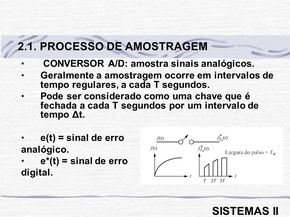 CONVERSOR A/D: amostra sinais analógicos.