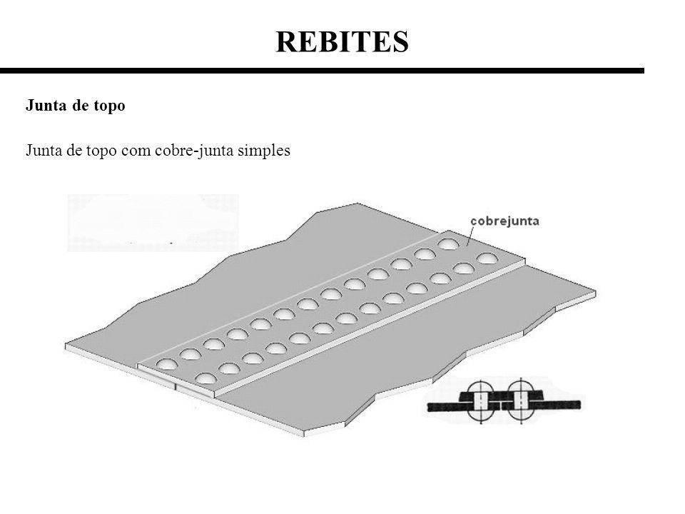 REBITES Junta de topo Junta de topo com cobre-junta simples