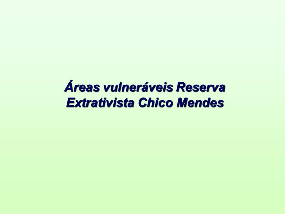 Áreas vulneráveis Reserva Extrativista Chico Mendes