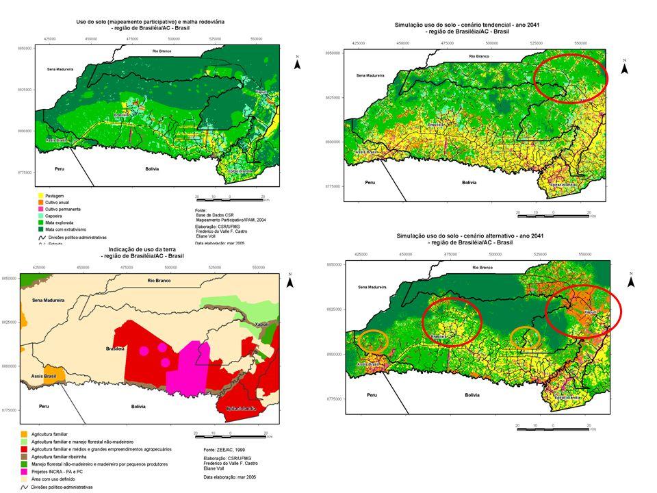 Considerações Finais PONTO DE PARTIDA PARA UMA ANÁLISE SÓCIO-AMBIENTAL E ECONÔMICA INSERÇÃO DE NOVOS MODELOS (ciclo hidrológico, perda de solo, fragmentação de habitat e retorno econômico a nível da paisagem.