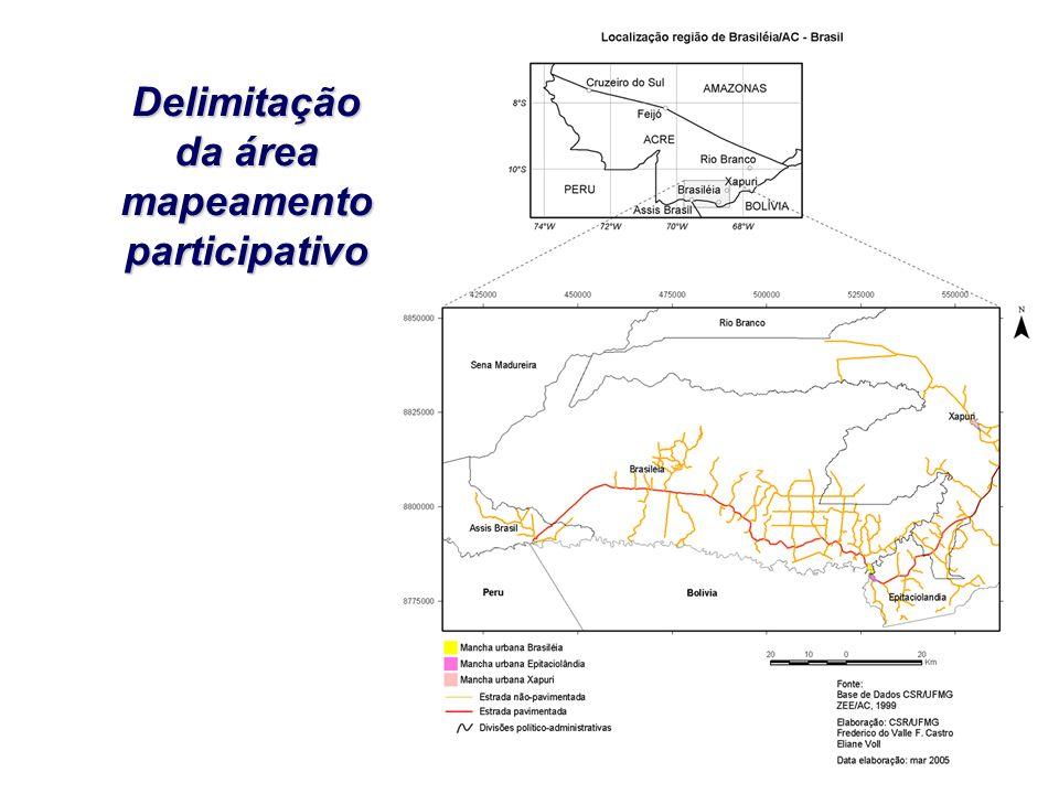 Delimitação da área mapeamento participativo