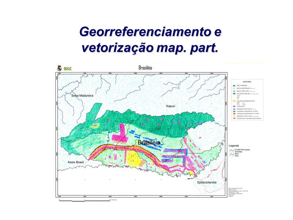 Georreferenciamento e vetorização map. part.