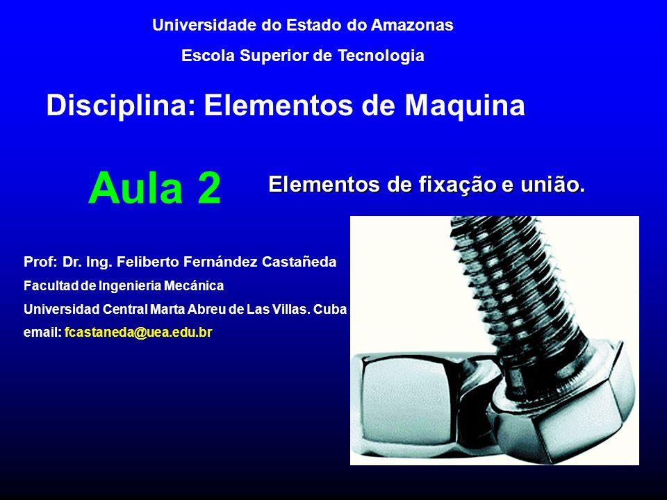Tema II.Elementos de fixação e união. 2.1. Uniões parafusadas.