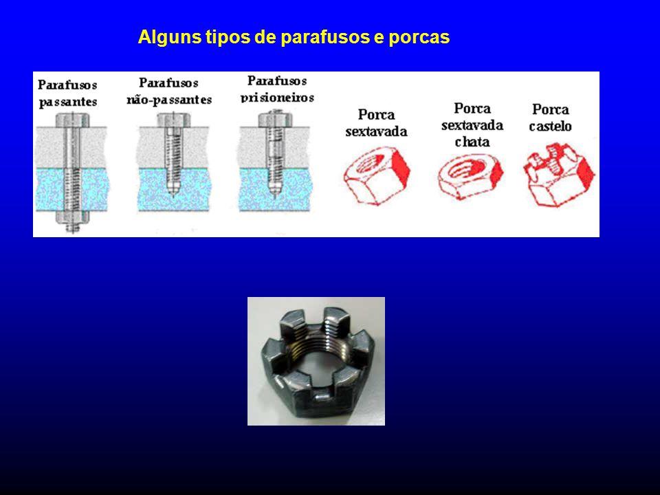 Alguns tipos de parafusos e porcas