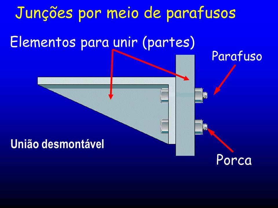 Junções por meio de parafusos Parafuso Porca Elementos para unir (partes) União desmontável