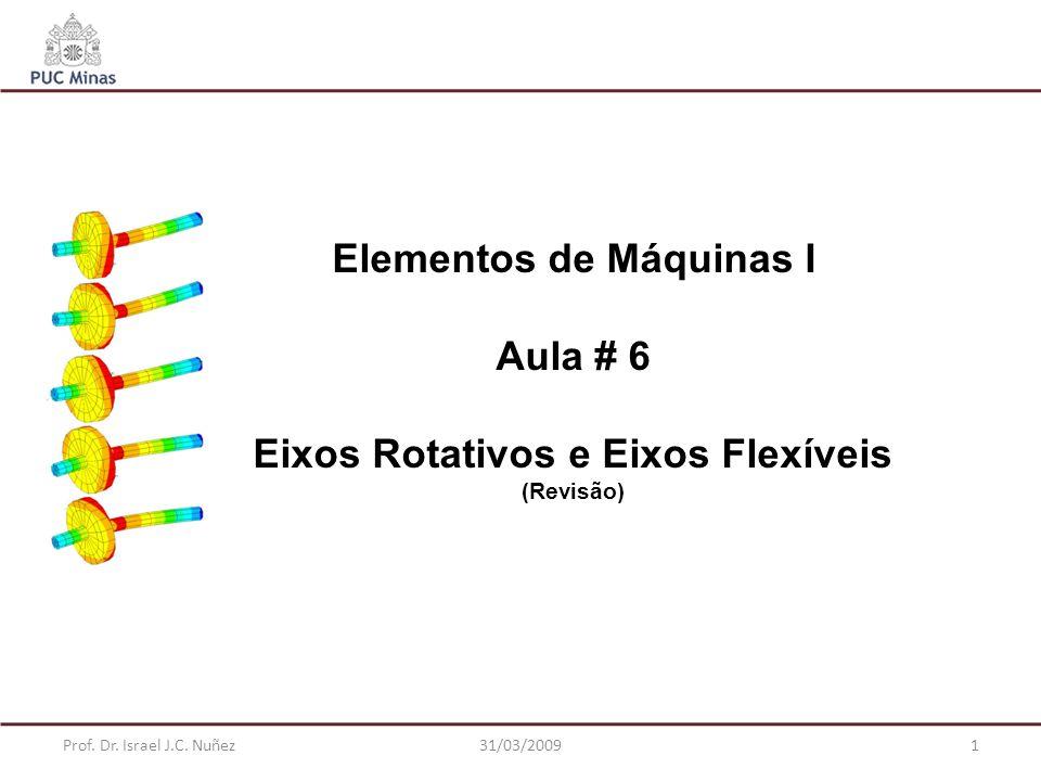 Elementos de Máquinas I Aula # 6 Eixos Rotativos e Eixos Flexíveis (Revisão) Prof. Dr. Israel J.C. Nuñez131/03/2009