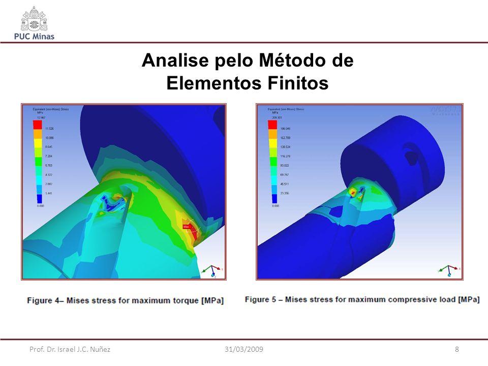 Prof. Dr. Israel J.C. Nuñez31/03/20098 Analise pelo Método de Elementos Finitos