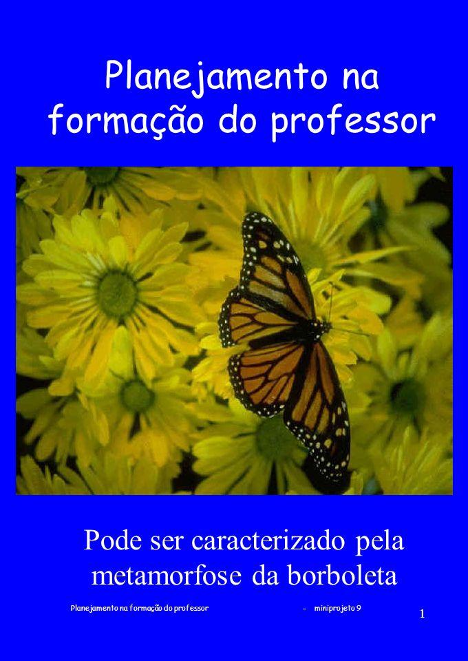 Planejamento na formação do professor - miniprojeto 9 1 Planejamento na formação do professor Pode ser caracterizado pela metamorfose da borboleta