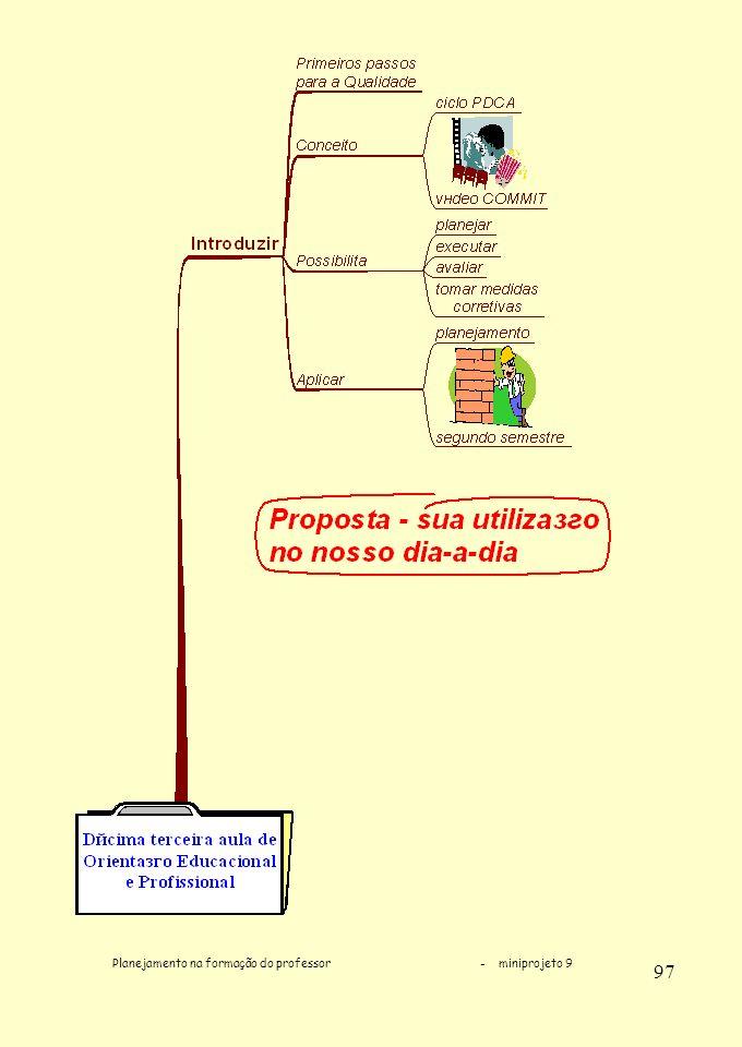 Planejamento na formação do professor - miniprojeto 9 97