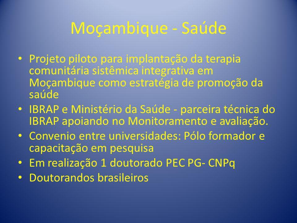 Moçambique - Saúde Projeto piloto para implantação da terapia comunitária sistêmica integrativa em Moçambique como estratégia de promoção da saúde IBR