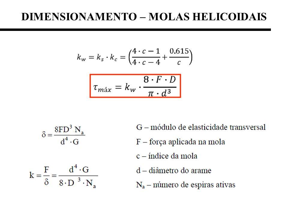 DIMENSIONAMENTO – MOLAS HELICOIDAIS