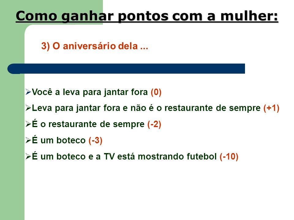 2) Social Você fica ao lado dela a festa inteira (0) Você vai para ao lado dos amigos (-2) Entre os amigos está uma mulher chamada Fernandinha (-4) Fe