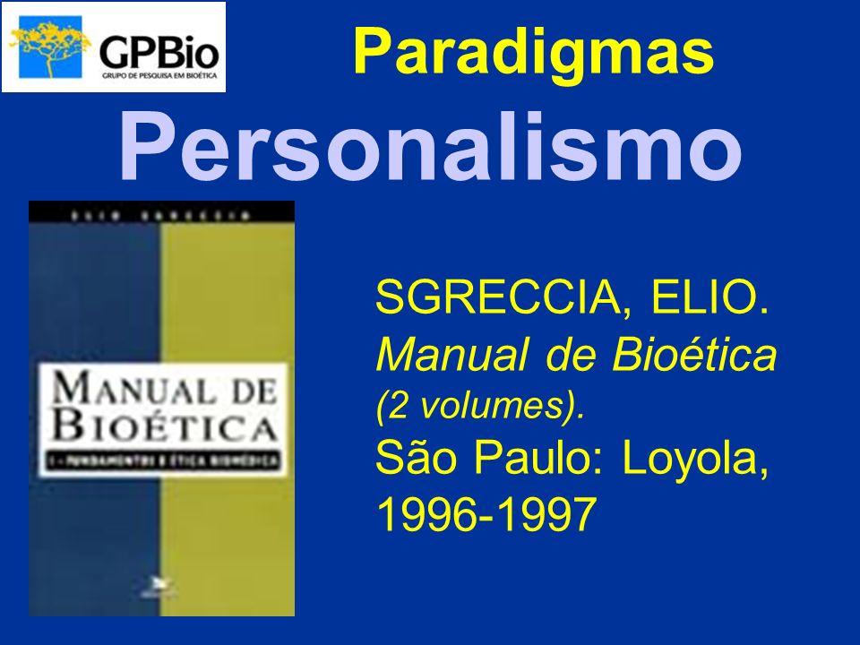 Paradigmas O ser humano, em sua dignidade universal, como valor supremo.