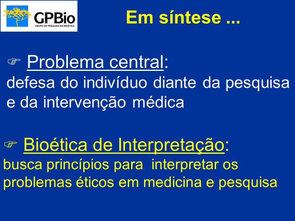 Paradigmas BEUCHAMP, TOM e CHILDRESS, JAMES.Principles of biomedical ethics.