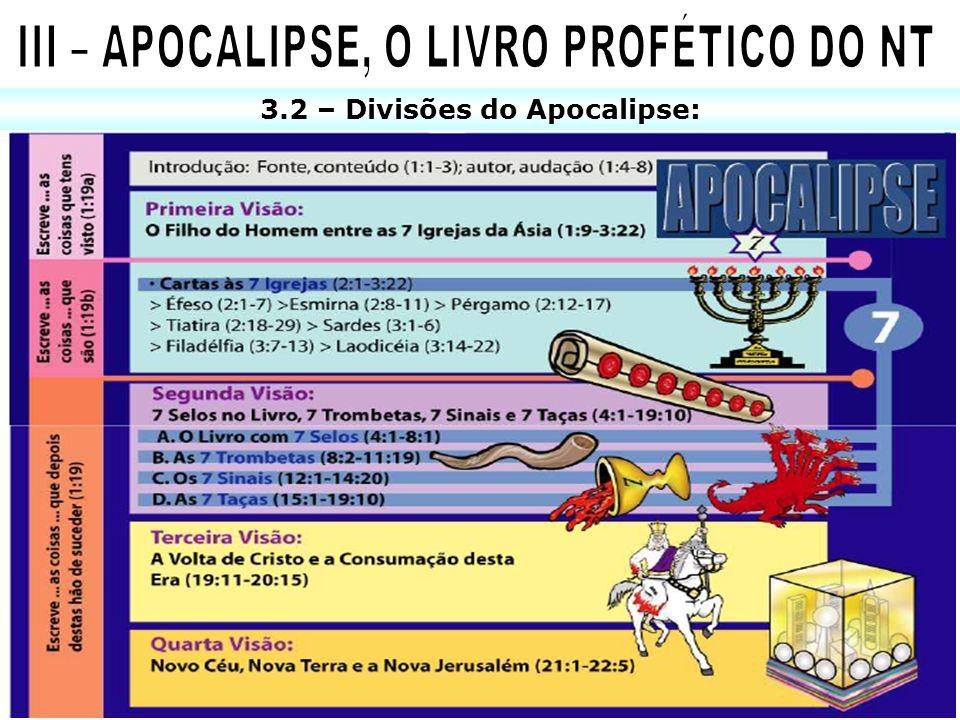 3.2 – Divisões do Apocalipse: