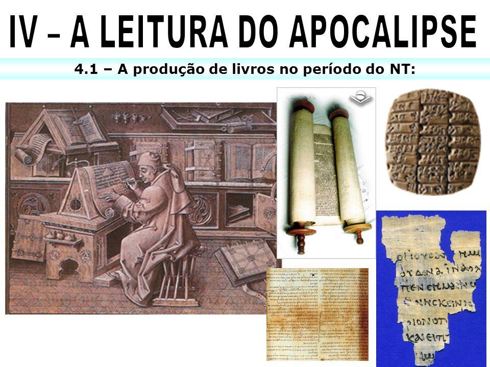 4.1 – A produção de livros no período do NT: