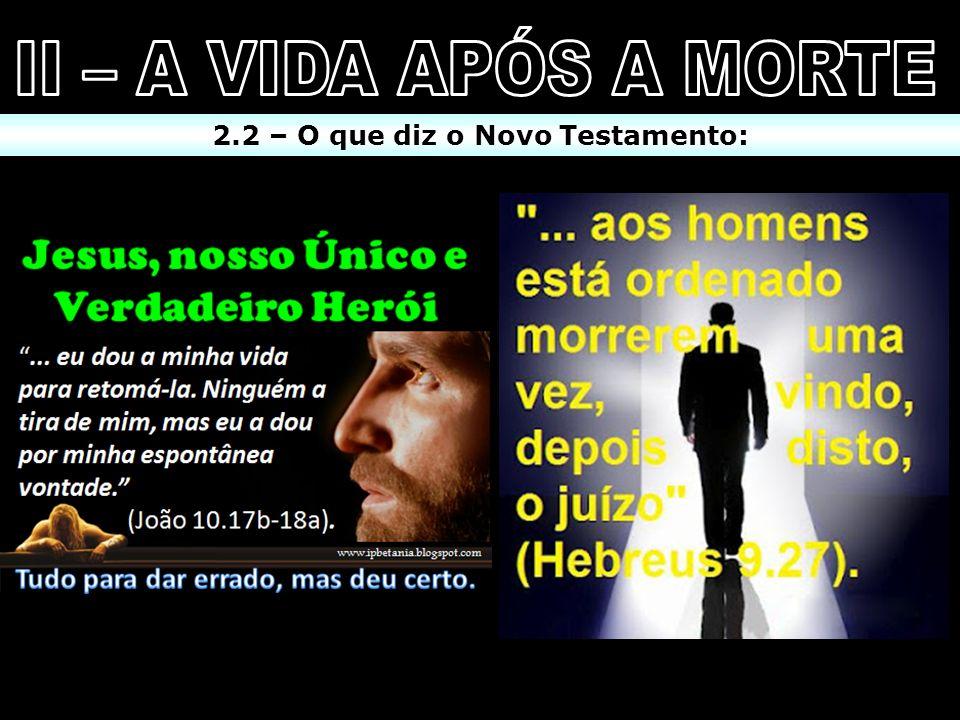 2.2 – O que diz o Novo Testamento: