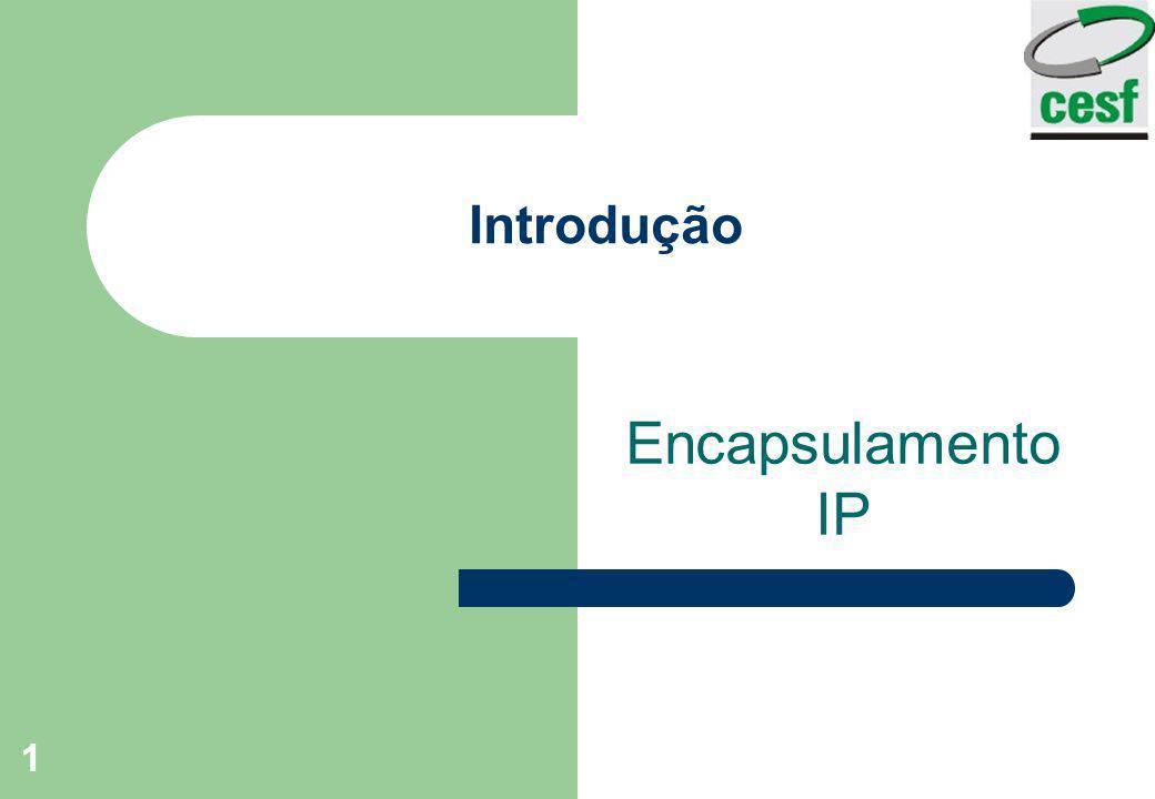 1 Introdução Encapsulamento IP