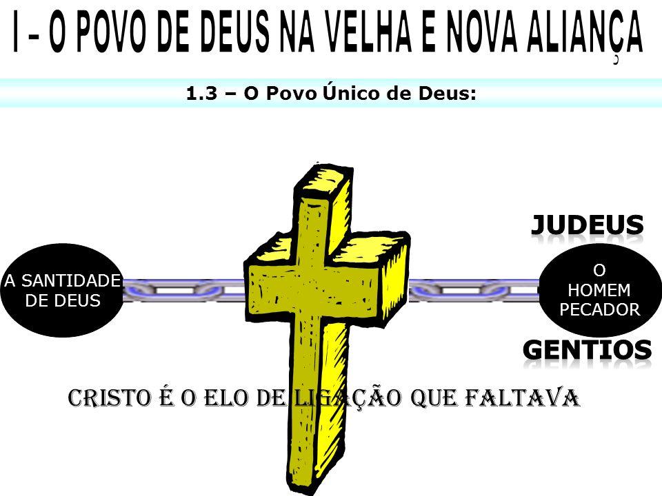1.3 – O Povo Único de Deus: A SANTIDADE DE DEUS O HOMEM PECADOR CRISTO É O ELO DE LIGAÇÃO QUE FALTAVA