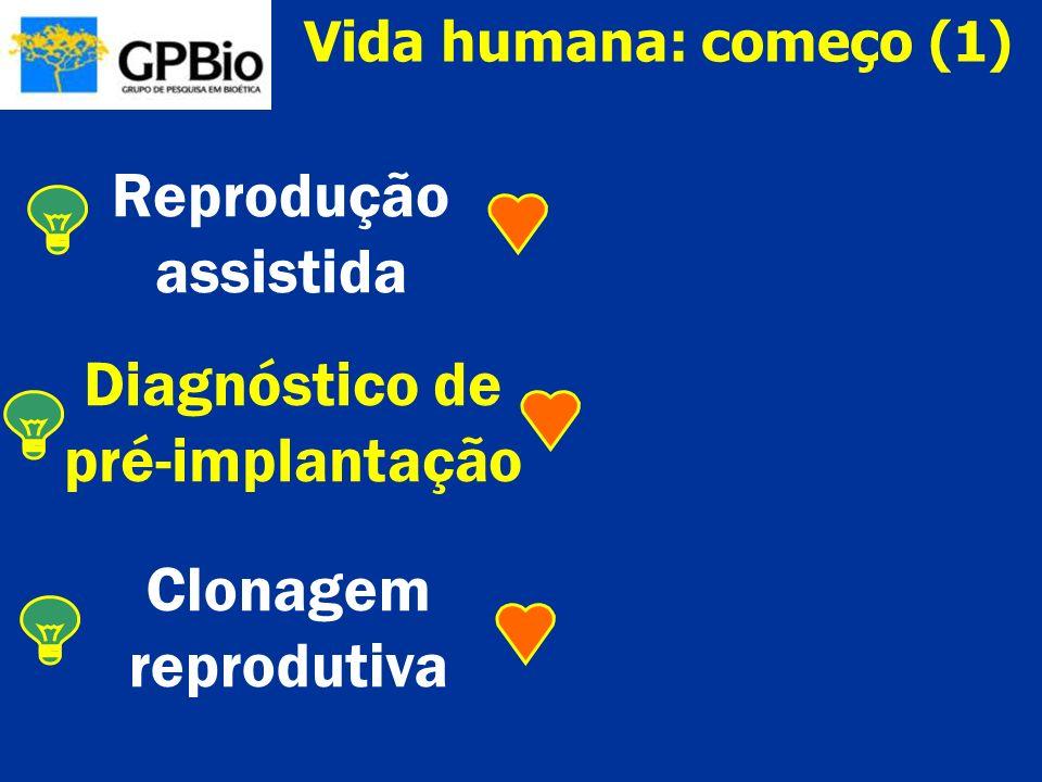 Pesquisas embriológicas Células-tronco embrionárias Clonagem terapêutica Vida humana: começo (2)