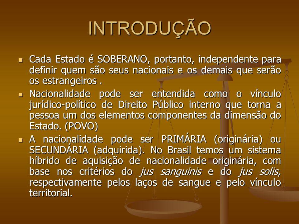 BRASILEIRO NATO Art.