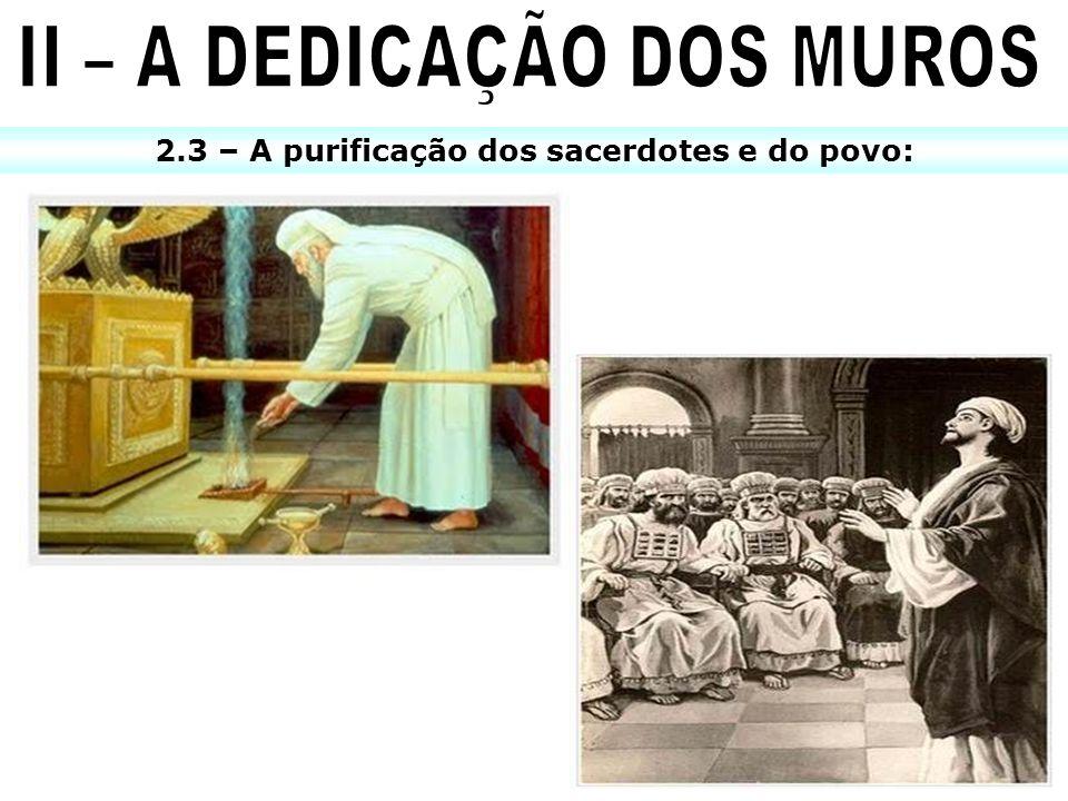 2.3 – A purificação dos sacerdotes e do povo:
