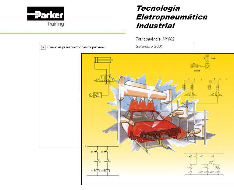 Tecnologia Eletropneumática Industrial 22 Válvula de Controle Direcional 5/2, Acionamento por Simples Solenóide Indireto, Tipo Distribuidor Axial Simbologia 35 42 1