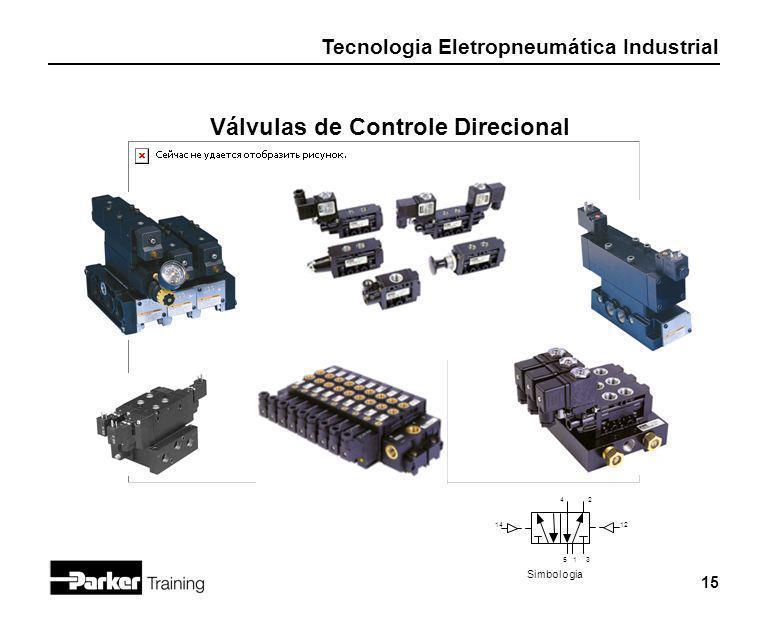 Tecnologia Eletropneumática Industrial 15 Válvulas de Controle Direcional 531 42 1412 Simbologia