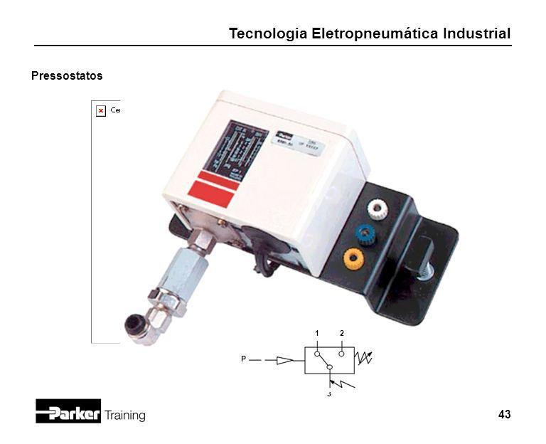 Tecnologia Eletropneumática Industrial 43 Pressostatos 12 P 3