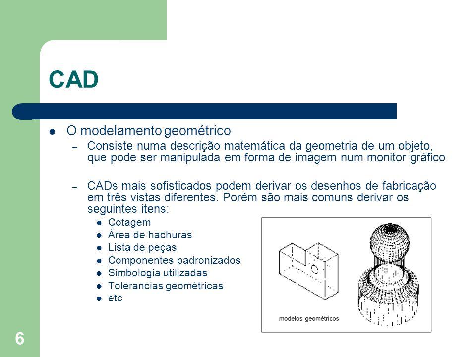 6 O modelamento geométrico – Consiste numa descrição matemática da geometria de um objeto, que pode ser manipulada em forma de imagem num monitor gráf