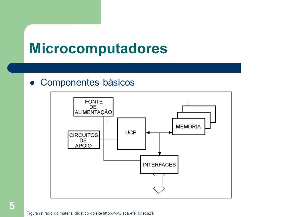 5 Microcomputadores Componentes básicos Figura retirado do material didático do site http://www.eca.efei.br/eca21/