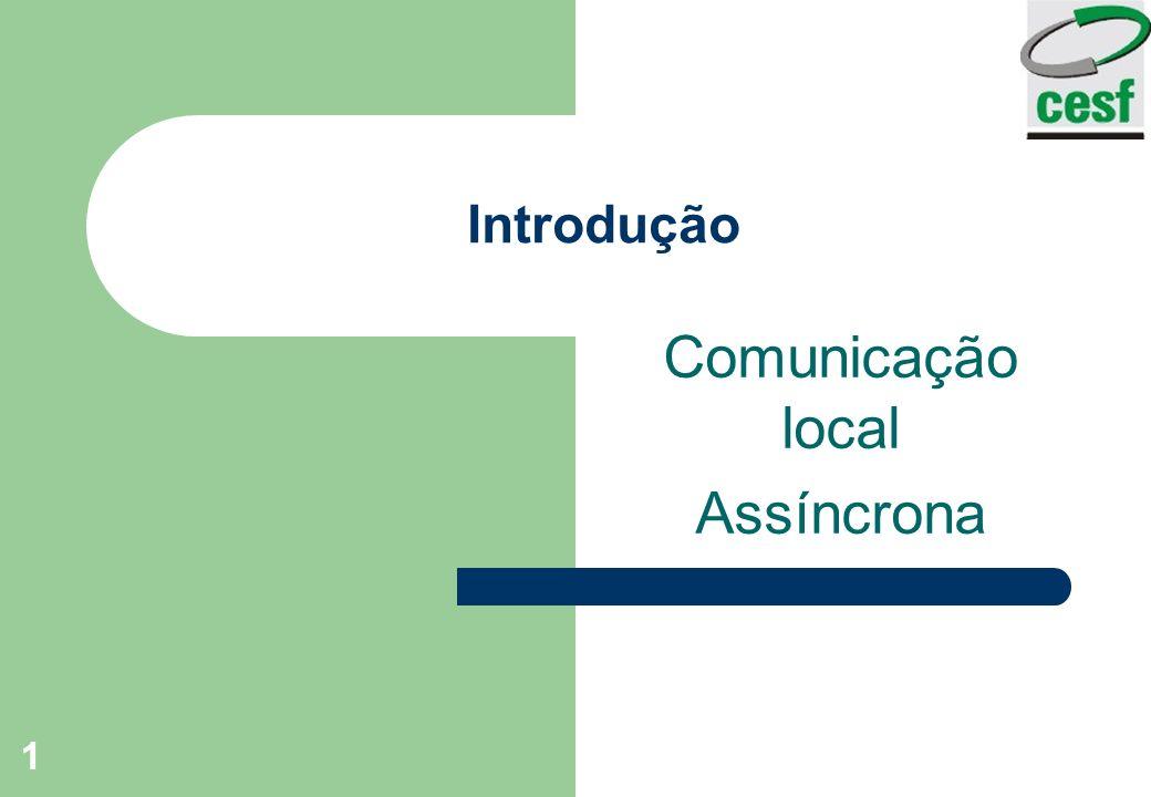 1 Introdução Comunicação local Assíncrona