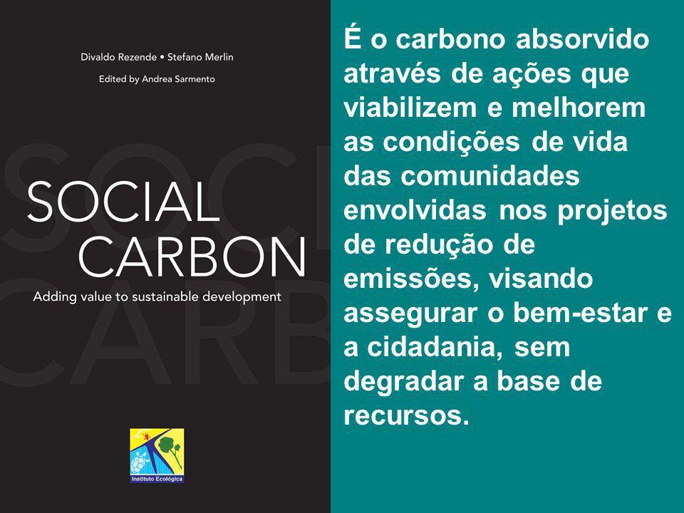 É o carbono absorvido através de ações que viabilizem e melhorem as condições de vida das comunidades envolvidas nos projetos de redução de emissões,