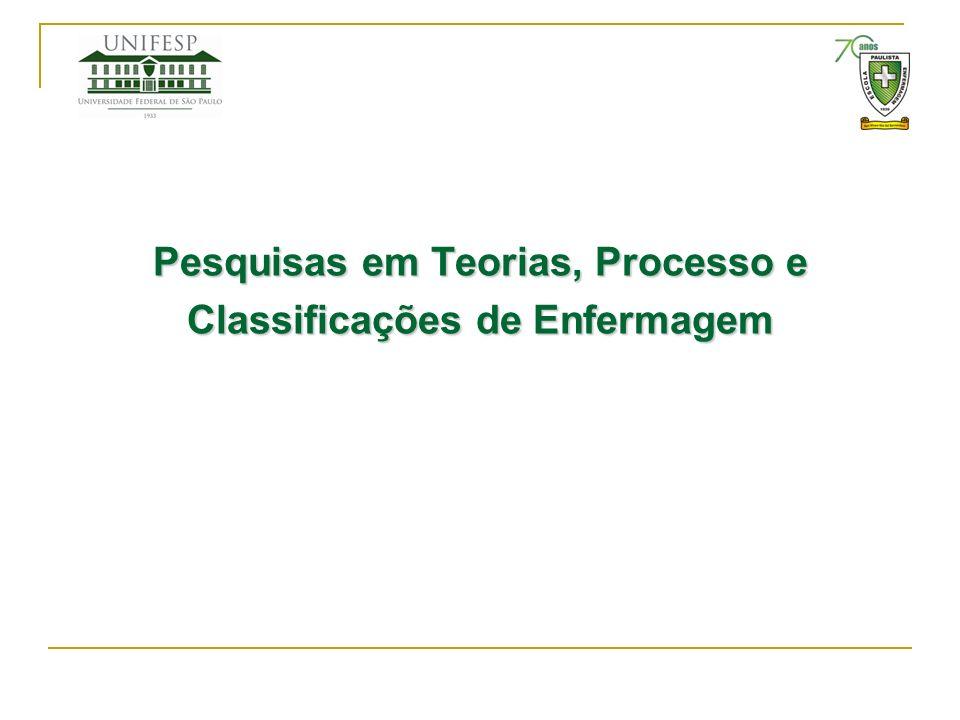 Pesquisas em Teorias, Processo e Classificações de Enfermagem