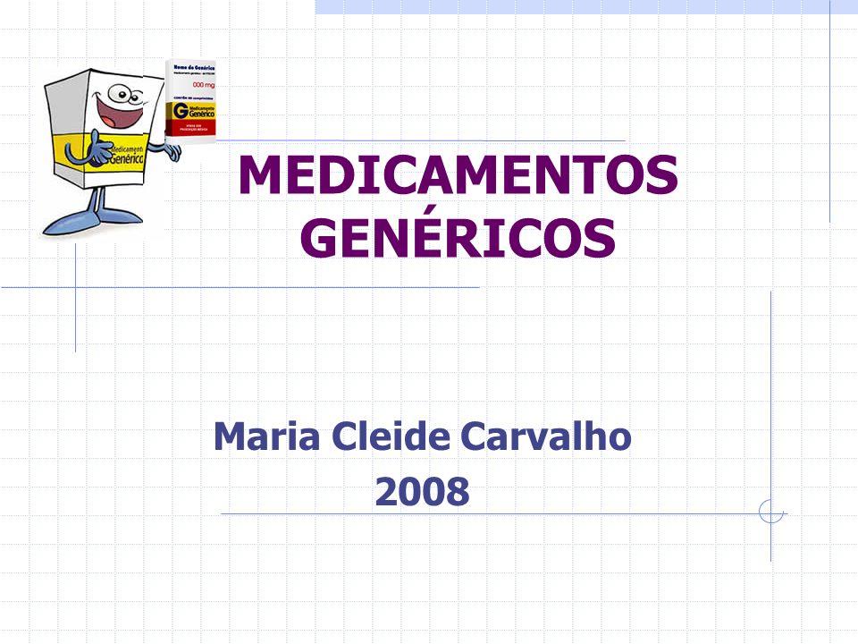 MEDICAMENTO GENÉRICO Definição legal M.