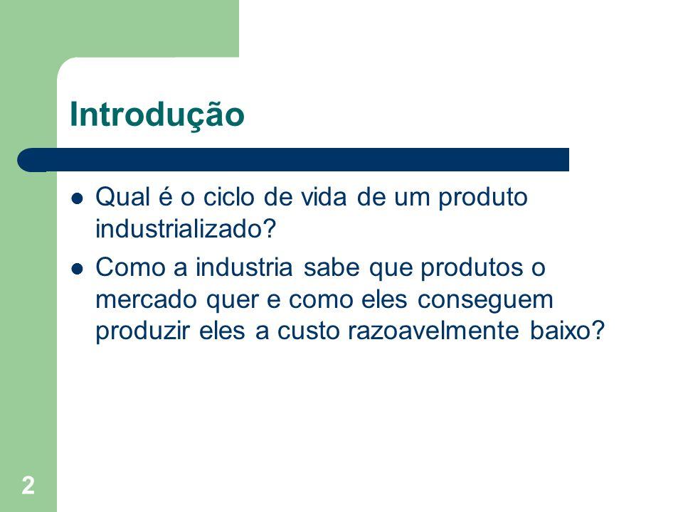 2 Qual é o ciclo de vida de um produto industrializado? Como a industria sabe que produtos o mercado quer e como eles conseguem produzir eles a custo