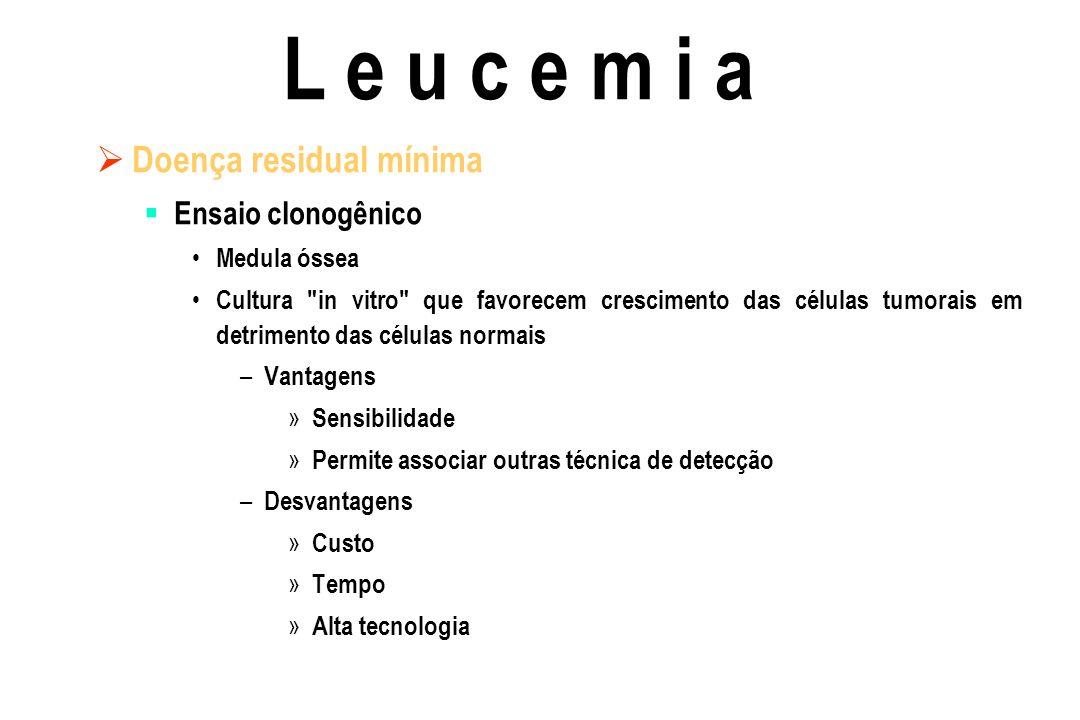 Doença residual mínima Ensaio clonogênico Medula óssea Cultura