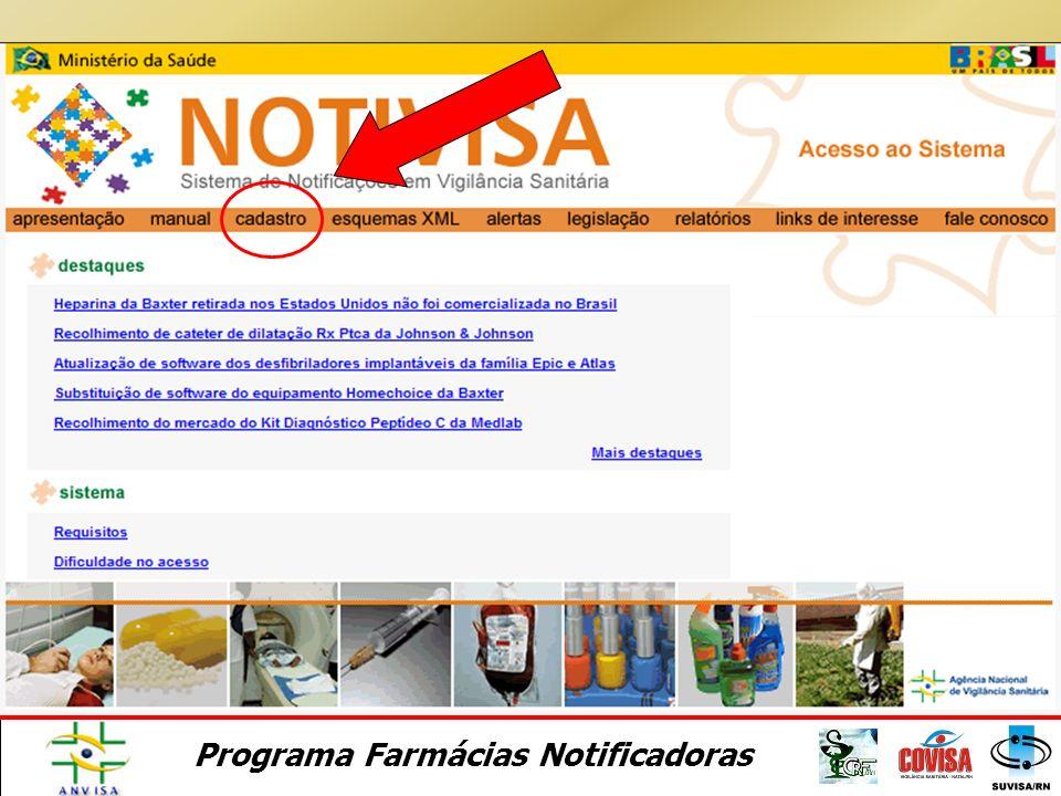 Programa Farmácias Notificadoras